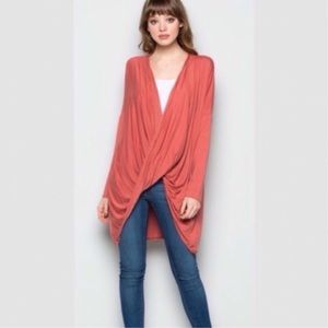 Tops - Rose Long Sleeve Draped Top
